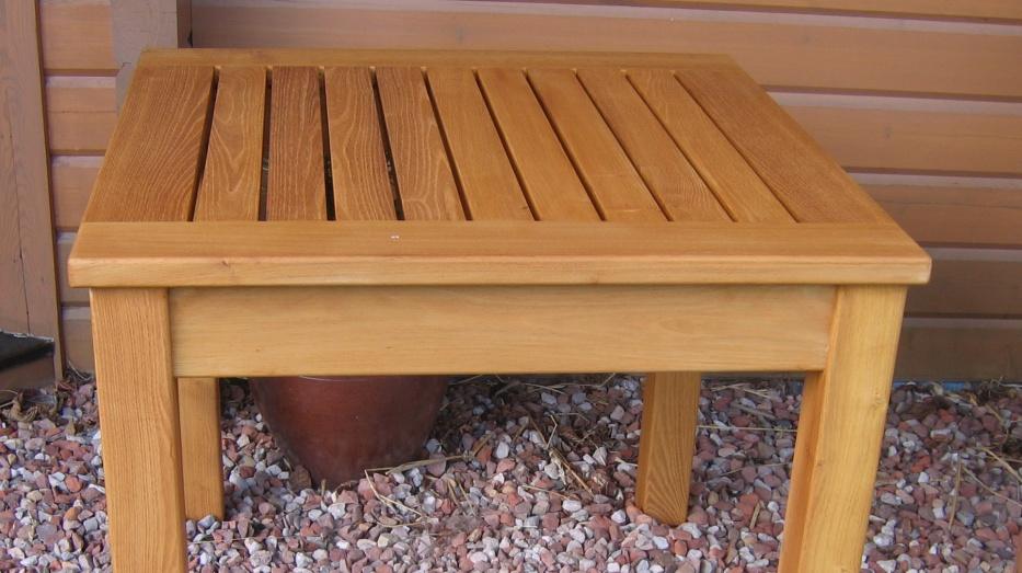 Teak houten tafel maken
